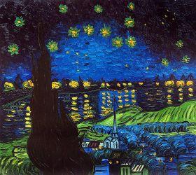 Starry Rhone Collage (artist interpretation)