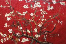 Branches Of An Almond Tree In Blossom (Artist Interpretation in Red)