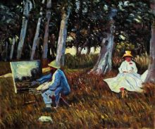 Claude Monet Painting by the Edge of a Wood - 24