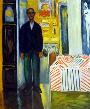Self Portrait: Between Clock and Bed - 20