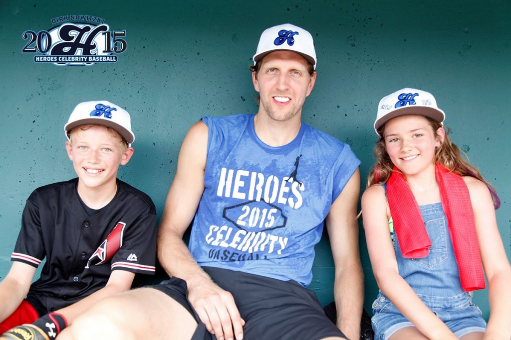 dirk nowitzki heroes celebrity baseball frisco roughriders