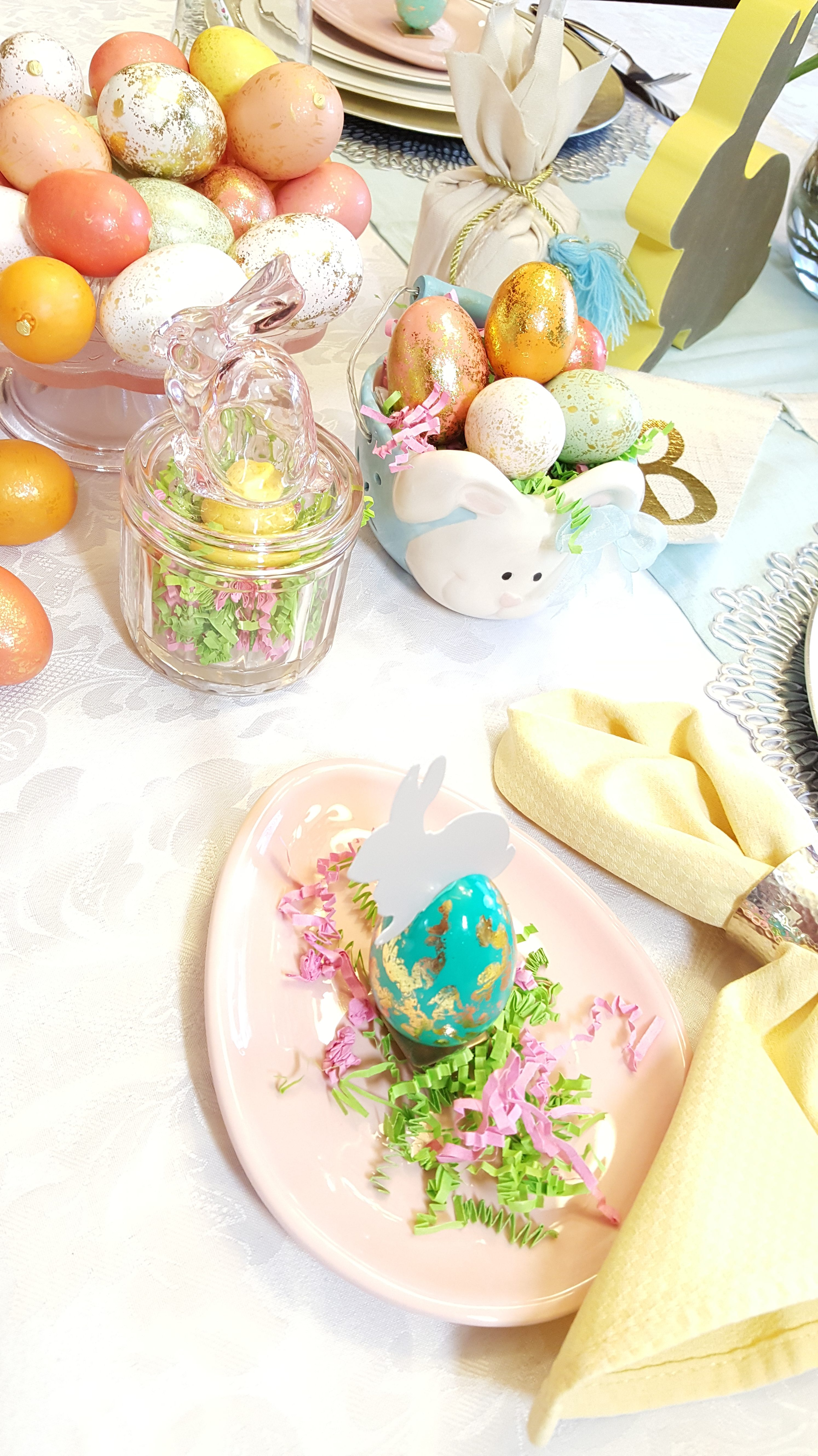 How to create a beautiful easter table plano profile connecting for dessert im serving sugar cookies and fluffy pastel colored marshmallows in the colorful easter egg plates in addition i also love using pastel cake negle Image collections