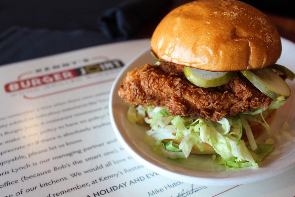 Crispy Chicken Burger Kennys Burger joint Plano