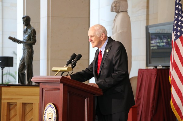 """At the Congressional Gold Medal Ceremony for American Fighter Aces. The Congressman introduced this bill to honor """"Ace"""" veterans, which was signed into law in 2014. Congressman Sam Johnson Plano Texas"""