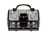 holiday gift guide plano  TORY BURCH Sawyer Embellished Satchel, $1,198; Tory Burch at Highland Park Village