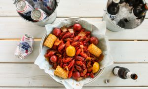 Hookline, The Boardwalk at Granite Park, Plano, Fat Tuesday, crawfish boil, oysters