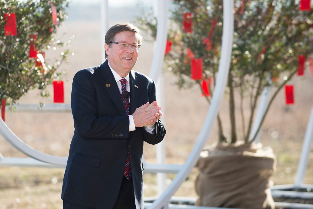 Toyota Motor North America Chief Executive Officer, Jim Lentz, addresses a group of 75 special guests and local media. Lentz lays out the automotive companys plan for building a new sustainable corporate campus set to be completed in late 2016 or early 2017 on January 20, 2015 in Plano, Texas. CEO