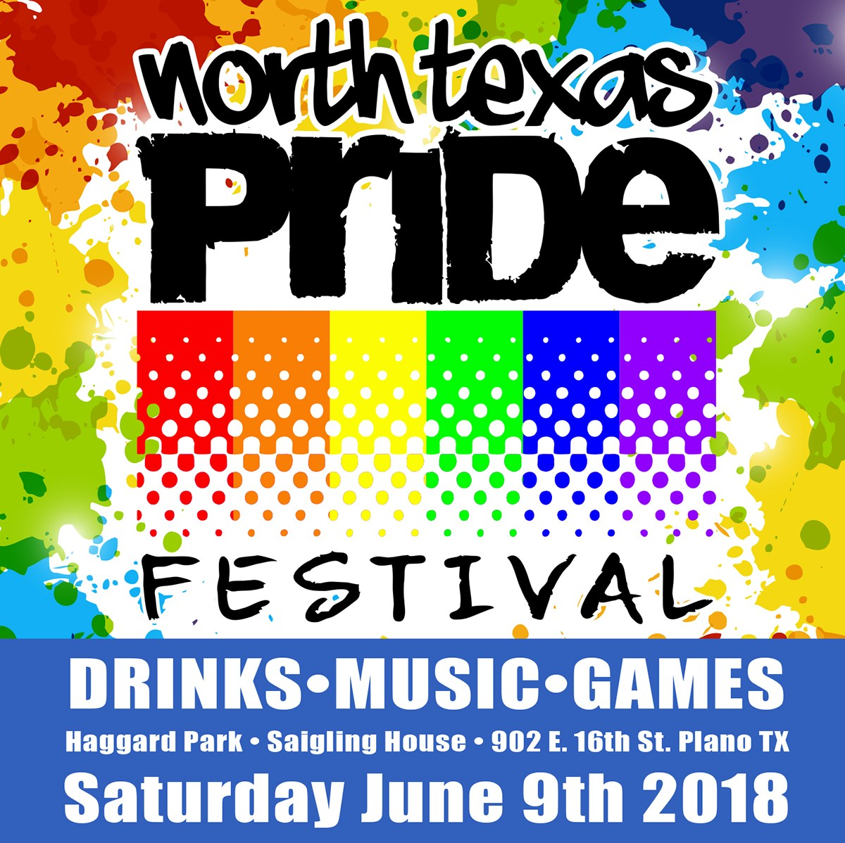 North Texas Pride Festival, North Texas Pride Foundation, Plano, Historic Downtown Plano, Haggard Park, Saigling House