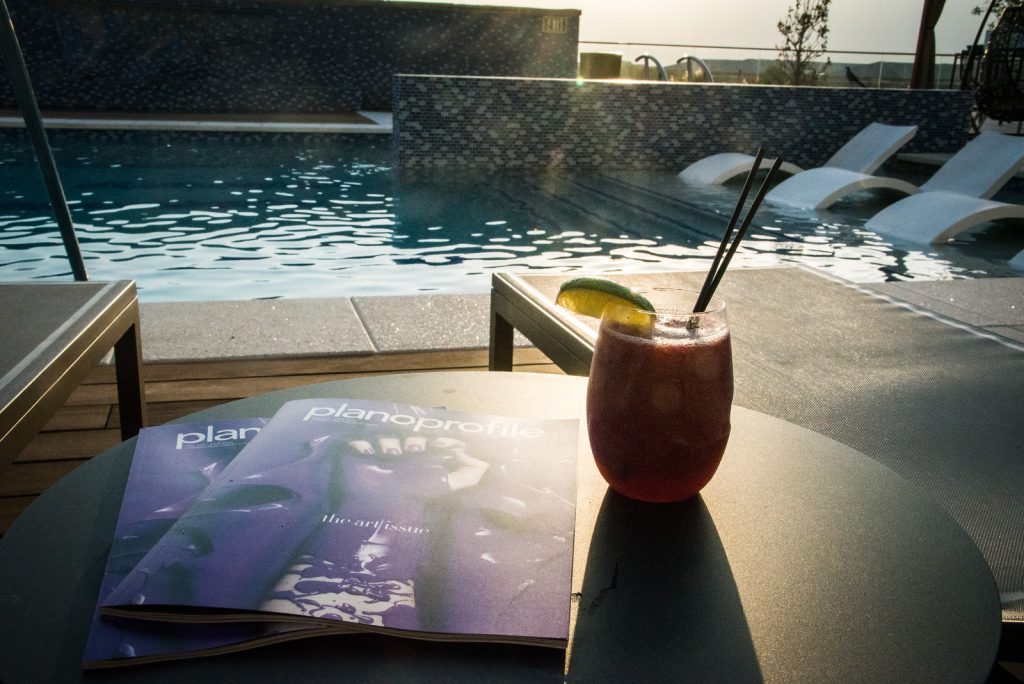 Plano Profile cover party, pool party, renaissance dallas at plano legacy west hotel