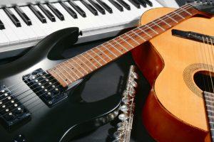 guitars, music