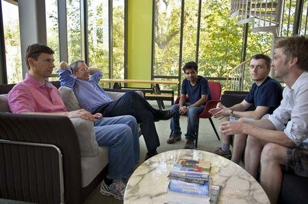 Students and faculty meeting