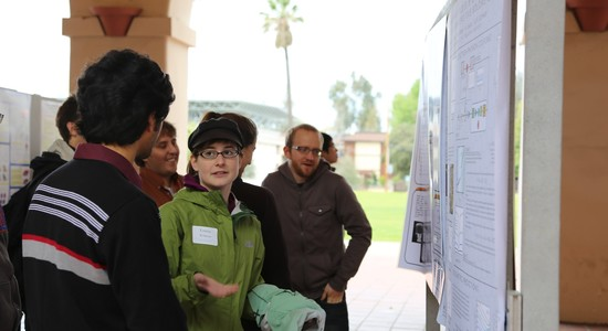 Students at poster presentation
