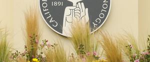 Caltech seal on building