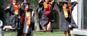 Excited Graduating Students