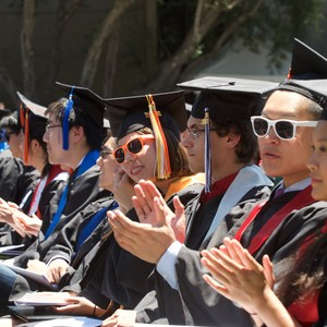 Photo of Students at Commencement