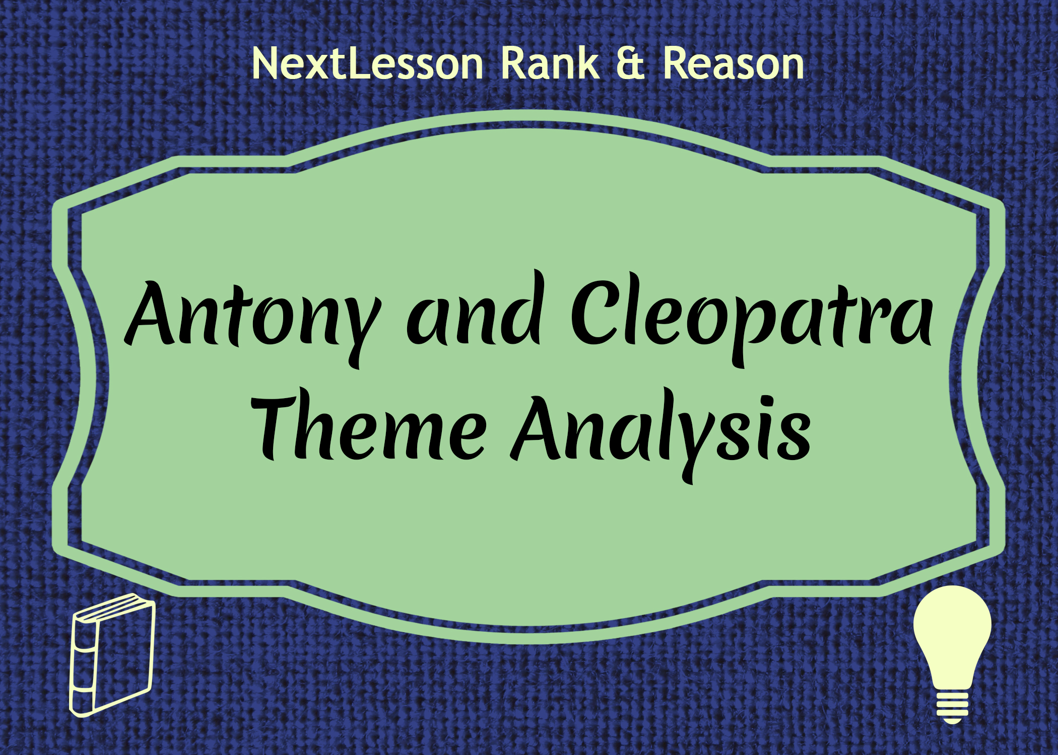 an analysis of antony and cleopatra Analysis and criticism antony and cleopatra is essentially a male-dominated play in which the character of cleopatra takes significance as one of few female.