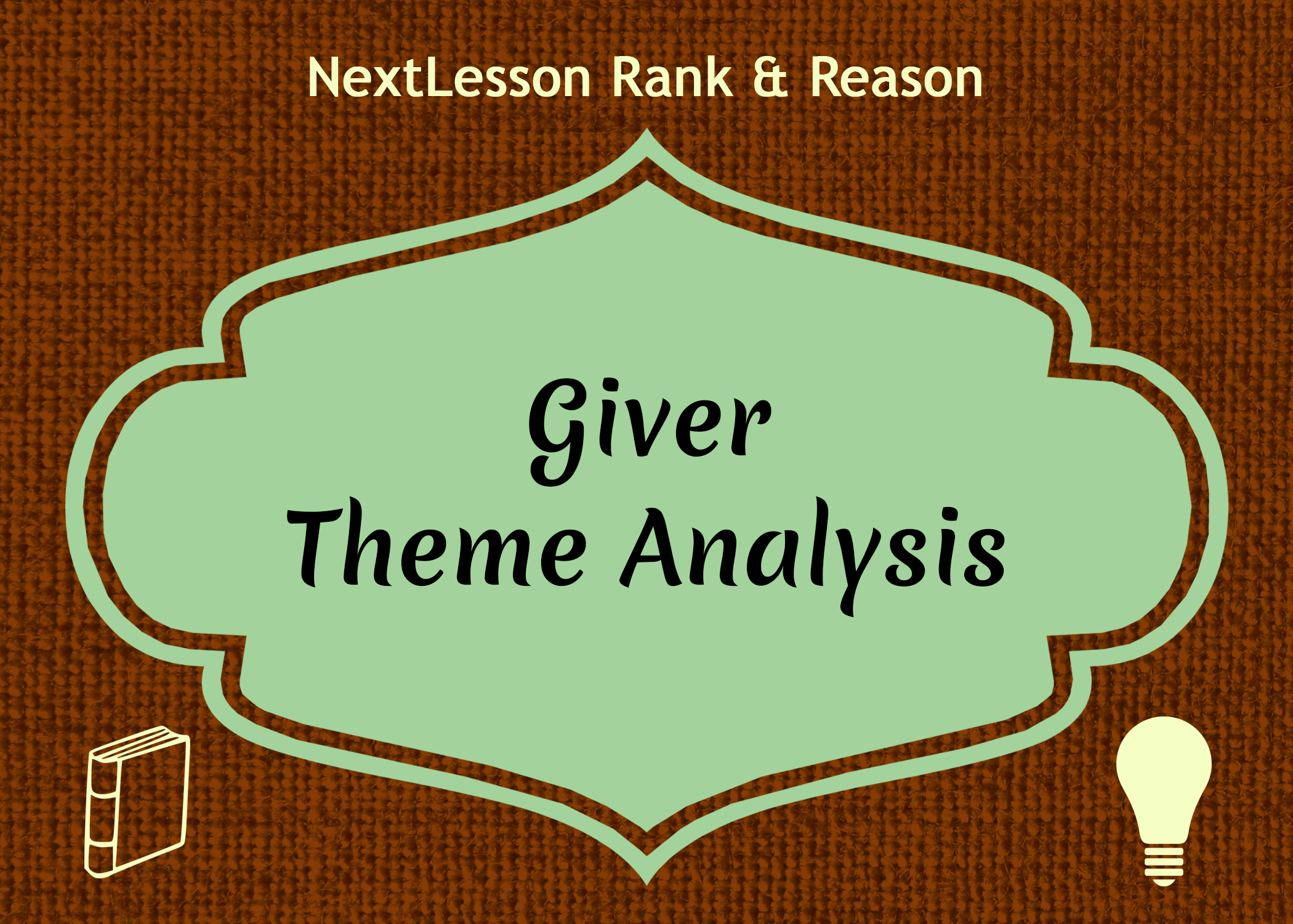 an analysis of the theme of the giver The giver analysis the main theme shown in the giver is the idea that good cannot exist without evil, and evil cannot exist without good, thus making reaching a perfect society impossible.
