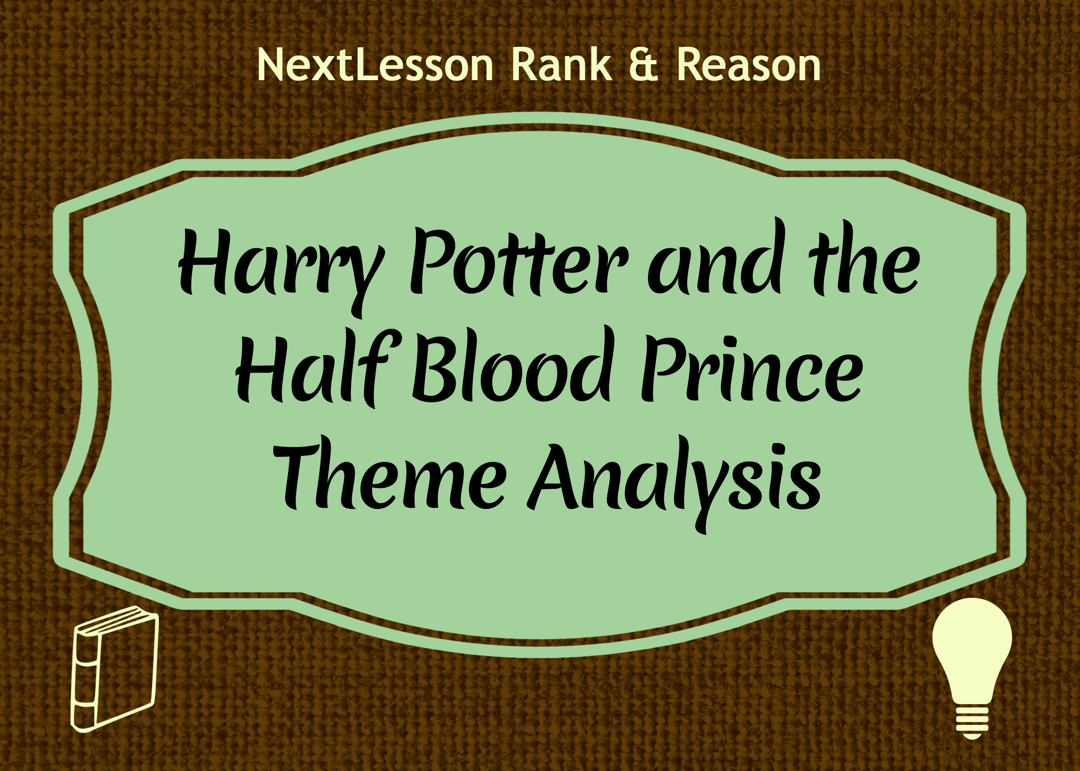 Harry potter analysis essay