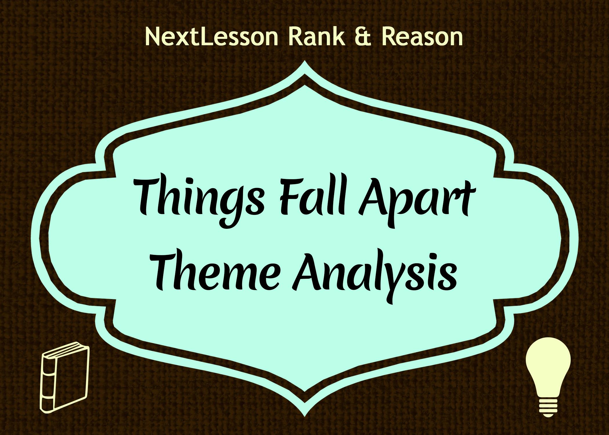 Things fall apart themes essay