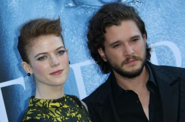 """Actress Rose Leslie and Kit Harington at the Los Angeles Premiere for The Seventh Season Of HBO's """"Game Of Thrones"""""""