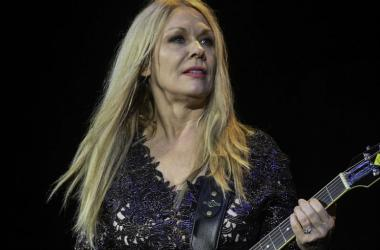 Recording artist Nancy Wilson of Heart performs at the Perfect Vodka Amphitheatre.