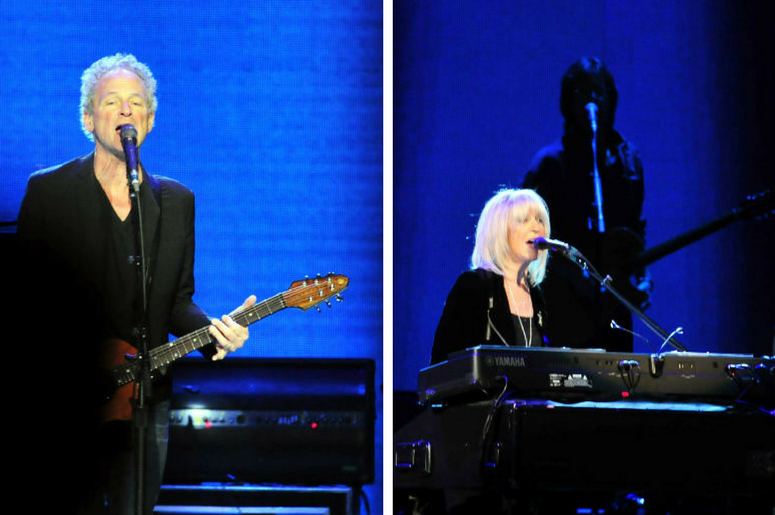 Lindsey Buckingham and Christine McVie of Fleetwood Mac perform at Bridgestone Arena