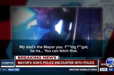 'My dad's the mayor!' Video shows Denver mayor's son using slur against officer during traffic stop