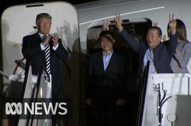 Trump welcomes US prisoners released by North Korea