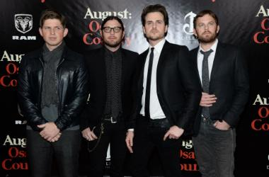 Matthew Followill, Nathan Folllowill, Jared Followill and Caleb Followill of Kings of Leon attend the premiere of AUGUST:OSAGE COUNTY presented by The Weinstein Company with DeLeon Tequila at the Ziegfeld Theatre in New York, NY