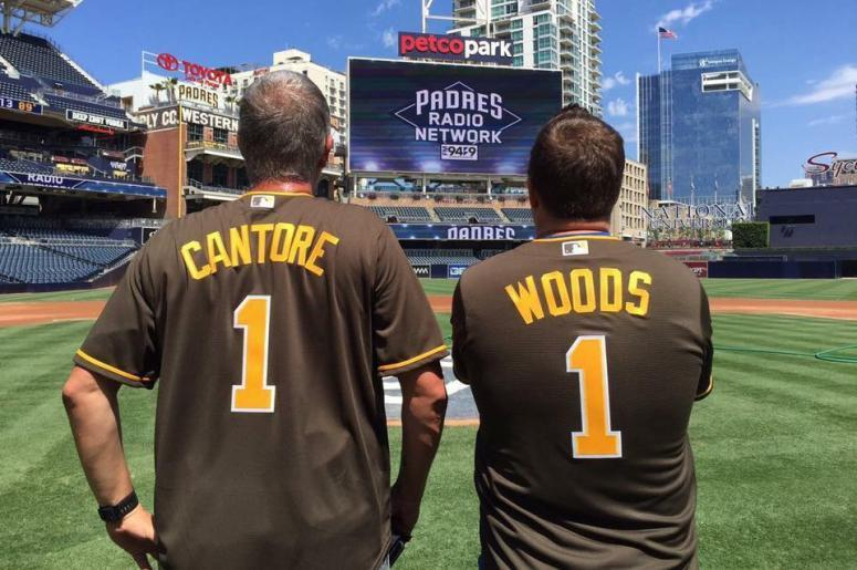 Cantore and Woods, San Diego Padres