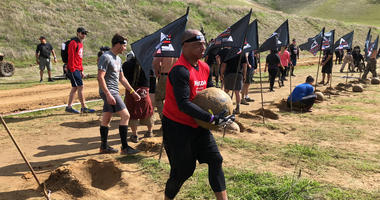 KCBS Radio reporter Bob Butler killing it at the 2018 Spartan Race in Diablo Grande, CA