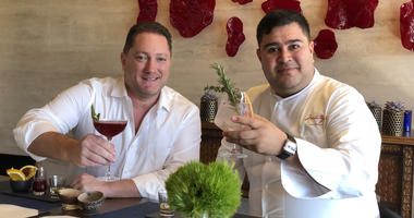 Chef Alexis Palacios and Liam (Photo credit: Foodie Chap/Liam Mayclem)