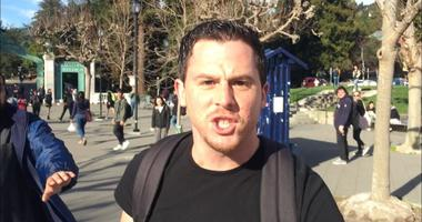 UC-Berkeley police want to arrest this unnamed suspect seen punching a conservative activist on campus.