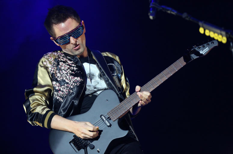 Matt Bellamy of Muse Performing during KROQ's Almost Acoustic Christmas show in Los Angeles, CA