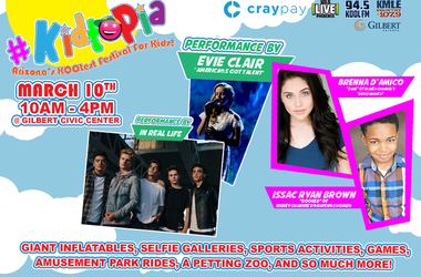 CRAY PAY and THE New KMLE @ 107.9 PRESENTS #KIDTOPIA!
