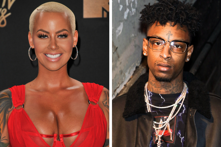Amber Rose at the 2017 MTV Movie And TV Awards held at The Shrine Auditorium on May 7, 2017 in Los Angeles, California / Rapper 21 Savage at the Alexander Wang show at New York Fashion Week.