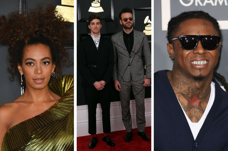 Solange Knowles, The Chainsmokers, Lil' Wayne