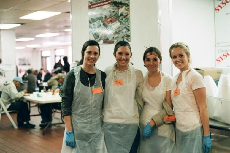 Volunteers at Father Joe's Villages