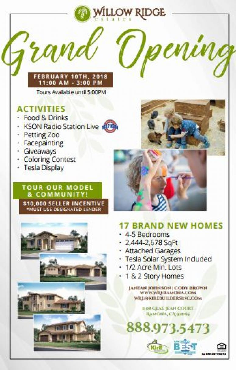 Willow Ridge Estates Grand Opening | KSON-FM | 103.7