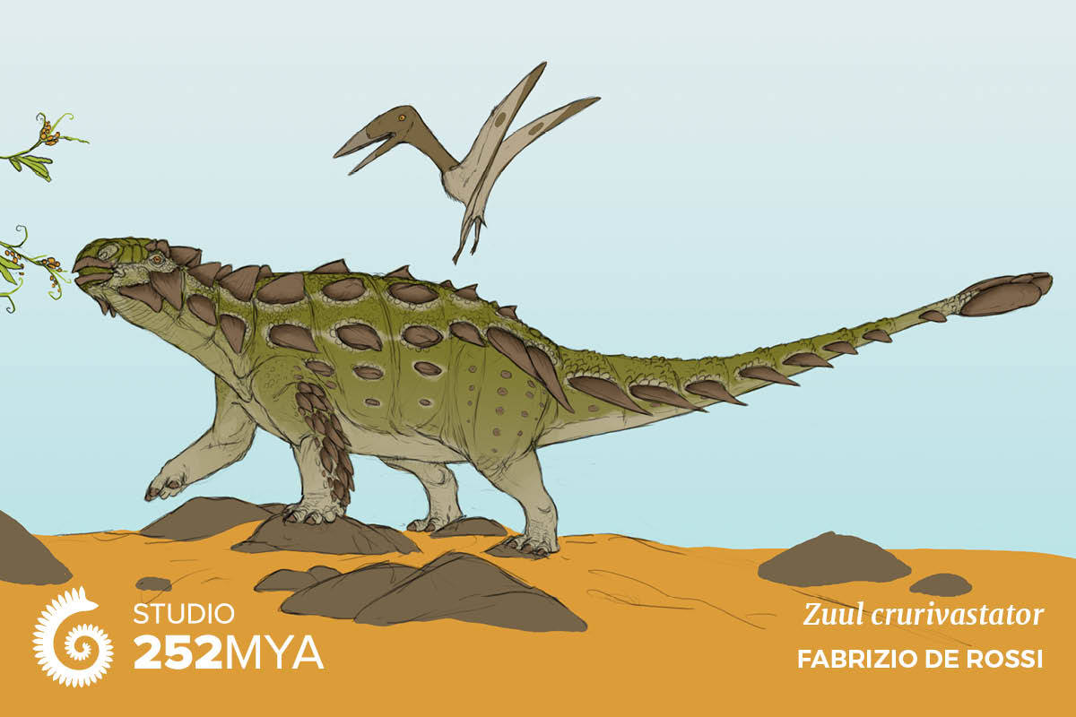 Artist's reconstruction of Zuul crurivastator