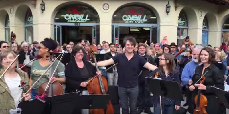 "Santa Cruz Symphony ""Ode To Joy"" Flash Mob"