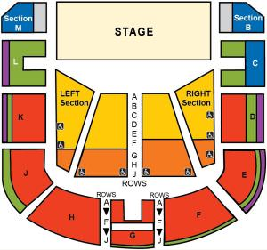 Santa Cruz Civic Auditorium Seating Map