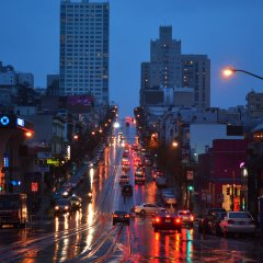 San Francisco rain