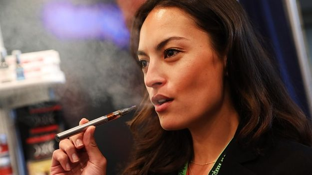 Vaping creates no smoke, but is not risk-free. SOURCE: Spencer Platt | Getty