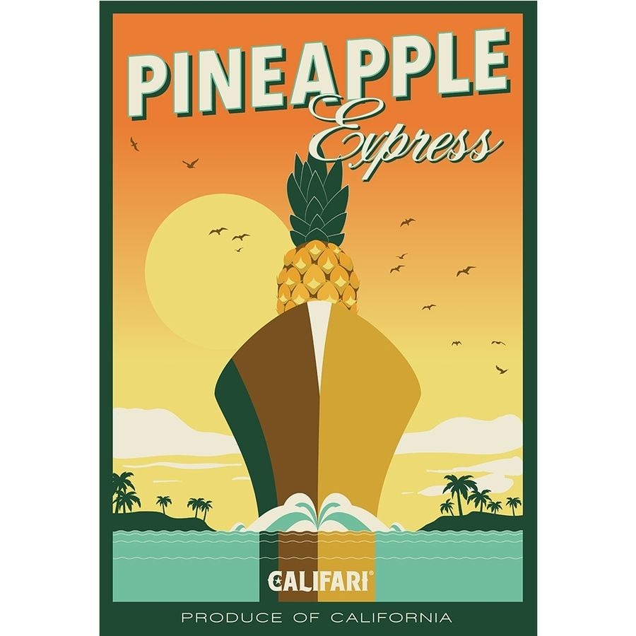 Kerri Ann Martin aka KAM is a punk rocker originally from Pittsburgh, Penn. She's also a design wizard. Not only did she create this amazing Art Deco-style poster for Pineapple Express, but she also did all the logo design for Califari. PHOTO: Courtesy Califari