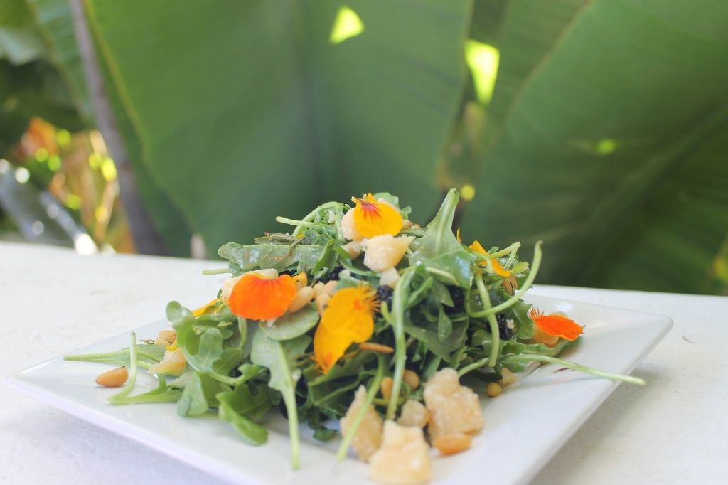 A Blue Dream salad from chef Holden Jagger.