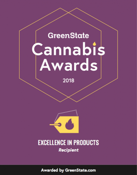 GreenState Cannabis Awards 2018 decal