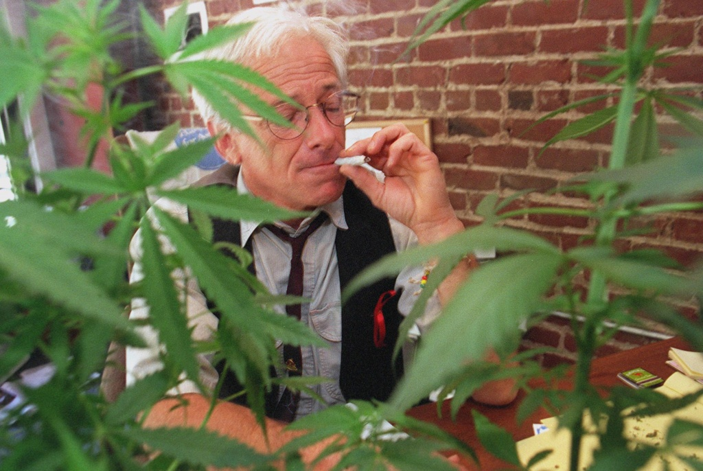 Peron, founder of the CANNABIS BUYERS CLUB of San Francisco has collected enough signatures to place his Medical Marijuana Iniative on the November ballot. Chronicle Photo: Michael Macor