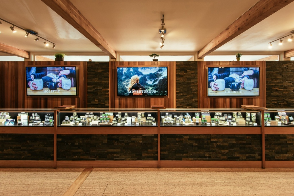 The interior of Origins — a cannabis shop in Seattle. | Photo courtesy of Origins