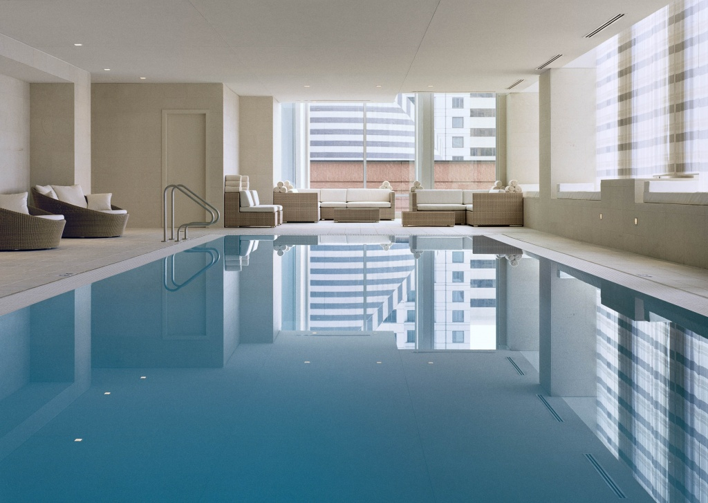 The St. Regis San Francisco's amenities include a salt water pool and now CBD oil massages